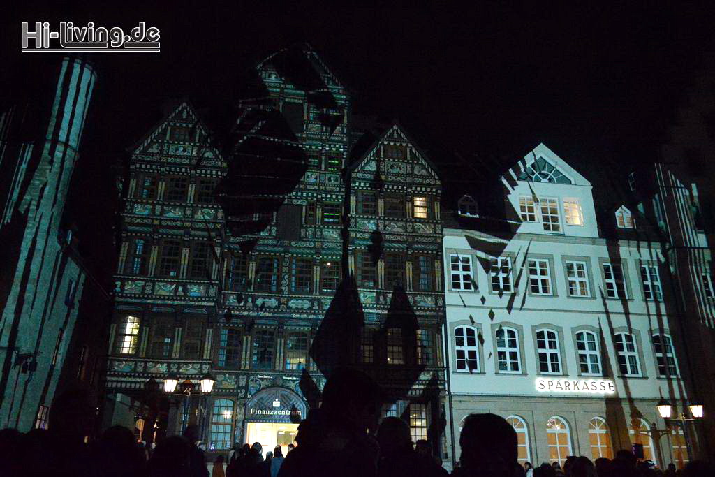 15-10-30 Internationales Lichtkunstfest – Lichtungen – und Late Night Shopping in Hildesheim
